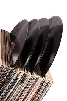 Vinyl auf weißem hintergrund