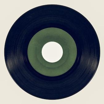 Vinyl-schallplatte im vintage-look