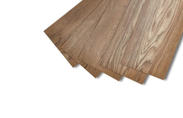 Vinylfliesen für die inneneinrichtung für die hausrenovierung. neue vinylfliese mit holzmuster. vinylbodenmaterial.