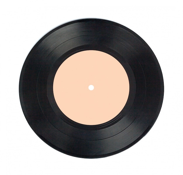 Vinylplatte getrennt auf weiß