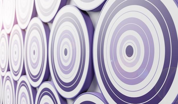 Violette dartscheiben