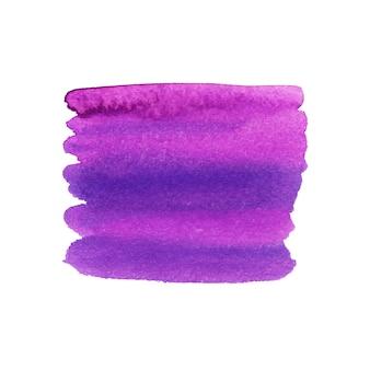 Violetter pinselstrich gemalt. aquarell textur.