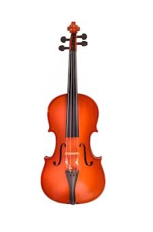 Violine auf weißem hintergrund