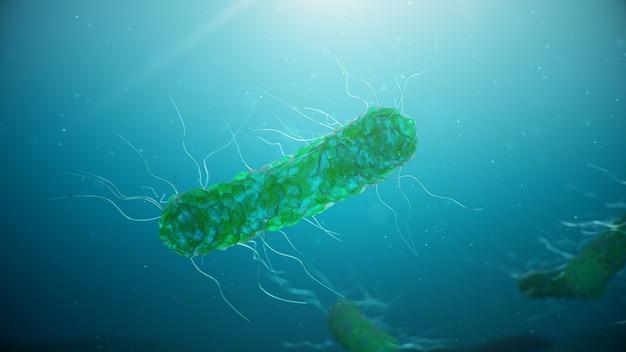 Viren, die infektionskrankheiten verursachen, verminderten die immunität. zellinfektionsorganismus. abstrakte bakterien.