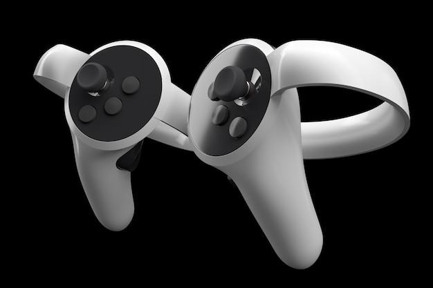 Virtual-reality-controller für online- und cloud-gaming einzeln auf schwarz
