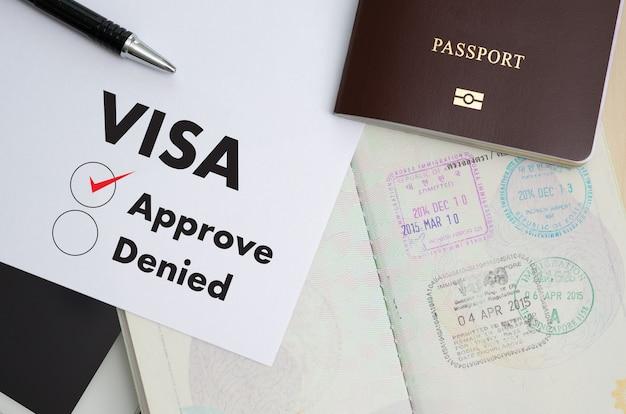 Visa-antragsformular zu reisen einwanderung ein dokument geld für reisepass karte und reiseplan