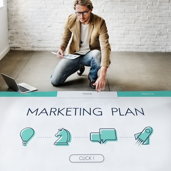 Vision des geschäftsentwicklungs-marketingplans