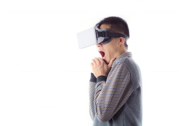 Vision tech bart erwachsener futuristisch