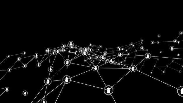 Visionäre vernetzung und verbindung von menschen