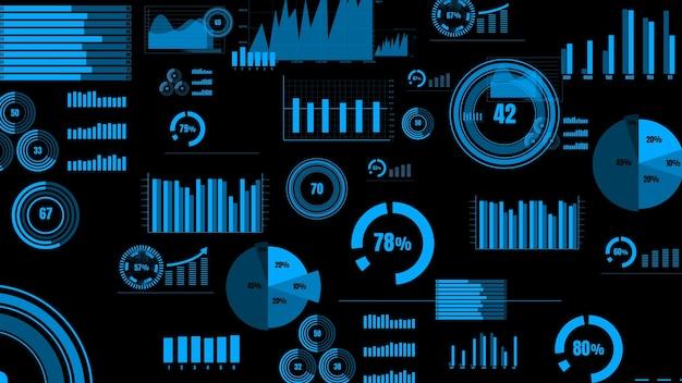 Visionäres business-dashboard für die analyse von finanzdaten