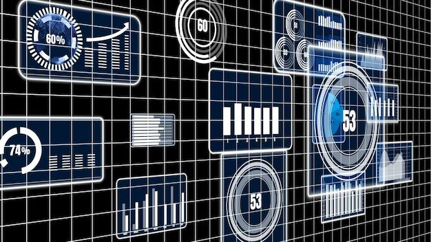 Visionäres business-dashboard für die analyse von finanzdaten Premium Fotos