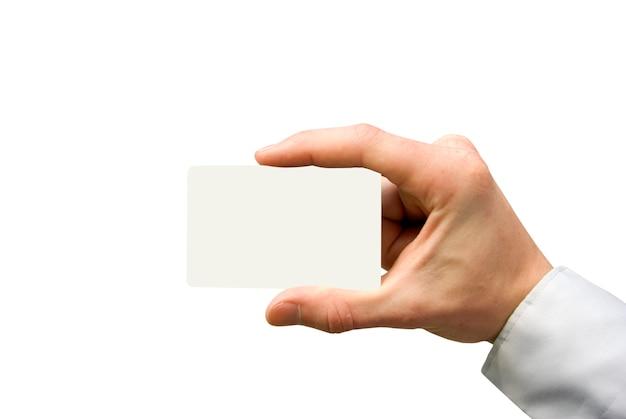 Visitenkarte in der hand