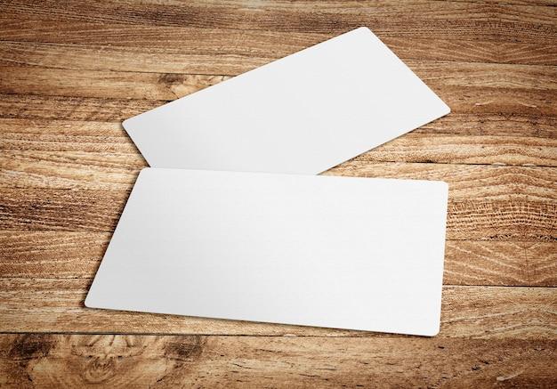 Visitenkarte vorlage auf holzbrett tabelle, vorlage für branding identität