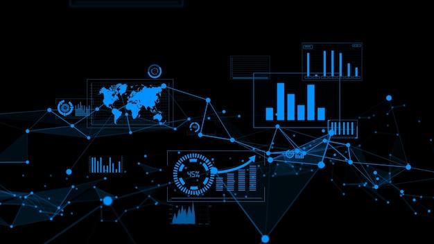 Visualiser-grafik für geschäftsdaten und finanzzahlen