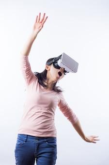 Visuelle 3d-gerät freizeit virtuellen