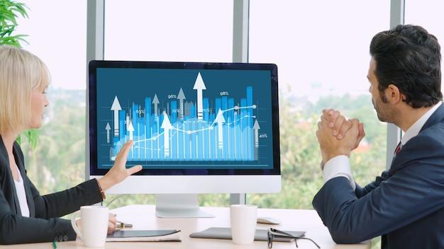Visuelle datenanalysetechnologie für unternehmen durch kreative computersoftware