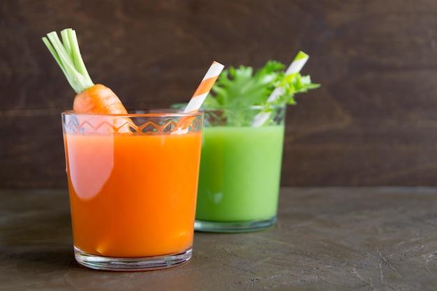 Vitamin-diät-cocktails zur gewichtsreduktion. vegetarische getränke.