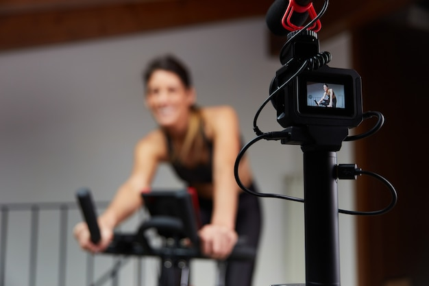 Vlogger aufzeichnung spinning lektion