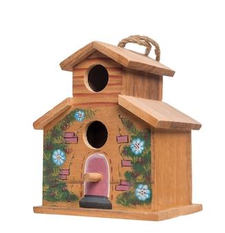 Vogelhaus, lokalisiert auf weiß