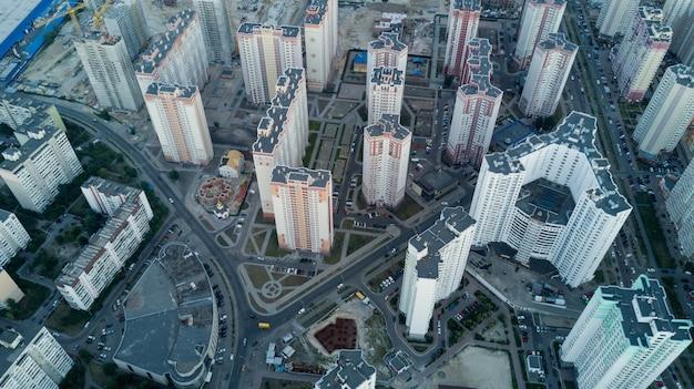 Vogelperspektive der großstadt