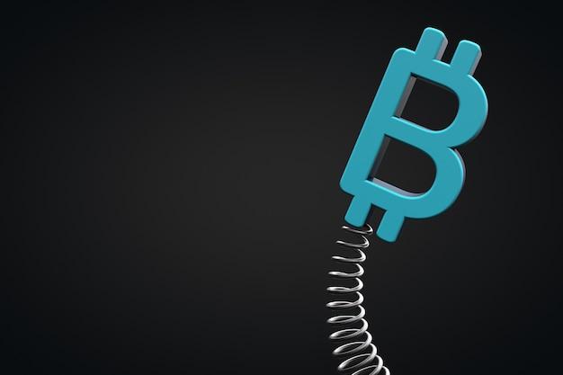 Volatilität der kryptowährung. bitcoin-symbol.