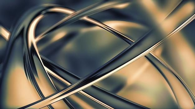 Vollbild abstraktes chrommetall als hintergrund