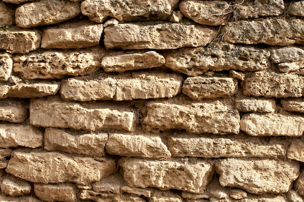 Vollbild schuss steinmauer