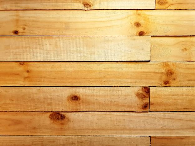Voller rahmen der dekorativen hölzernen planken-wand