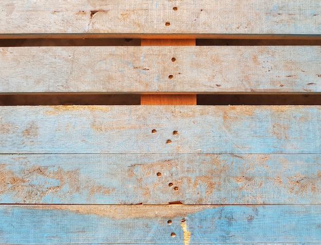 Voller rahmen des blauen hölzernen bauholzbrettes der weinlese für hintergrund- und oberflächenbeschaffenheit.
