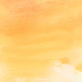 Voller rahmen des gemalten gelben wasserfarbpapiers