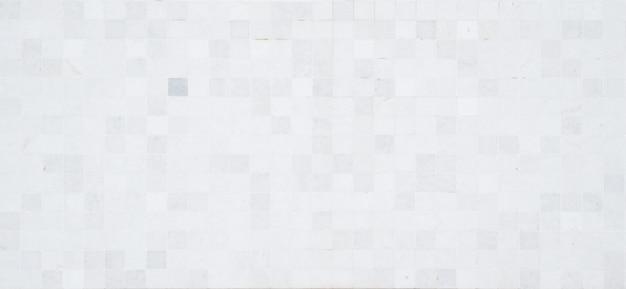 Voller rahmen des weißen mosaikmusters. hintergrundbild und hintergrundkonzept.