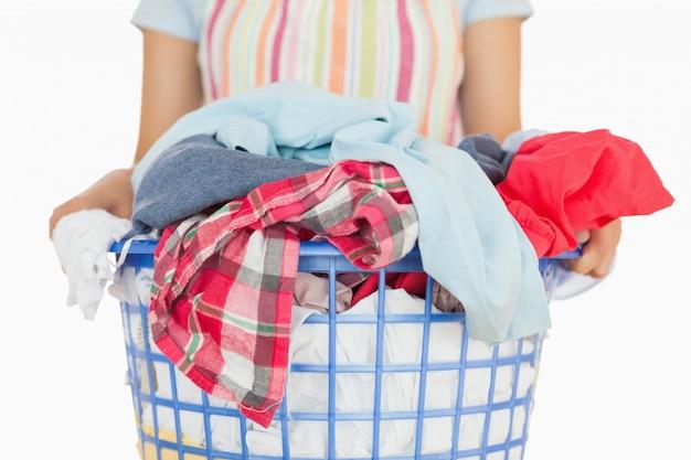 Voller wäschekorb