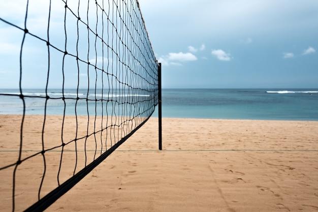 Volleyballnetz am strand