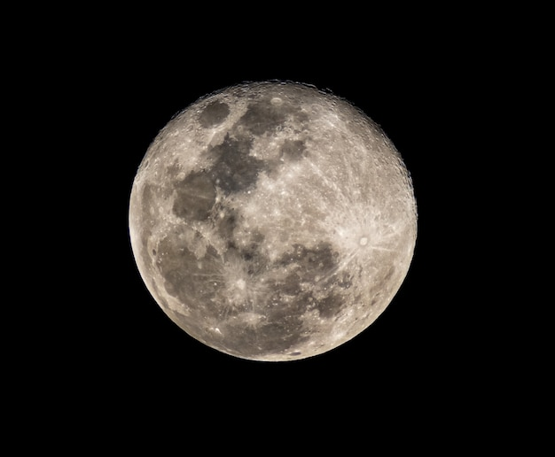 Vollmondfoto der hohen auflösung vom teleskop