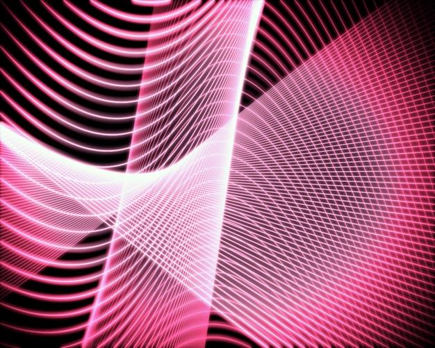 Volute von rosa linien