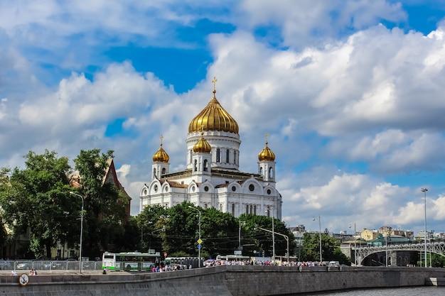 Von der kathedrale von christ der retter in moskau, russland