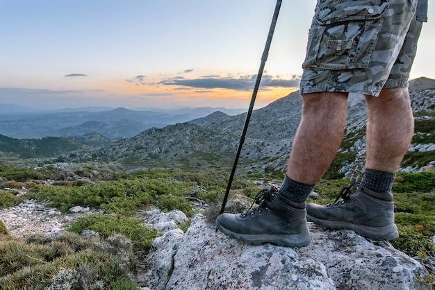 Von der spitze des berges