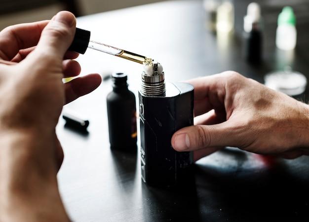 Vorbereiten der elektrischen zigarette