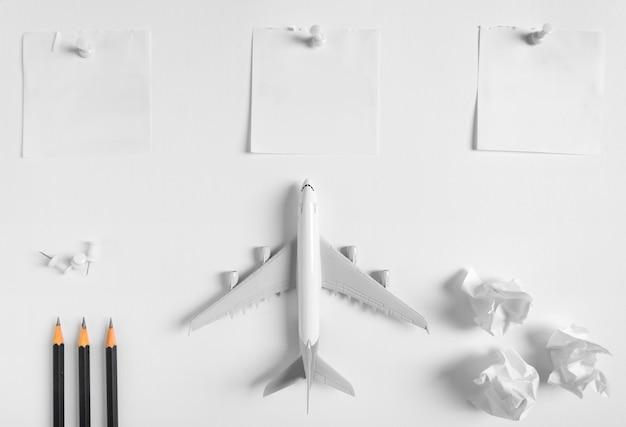 Vorbereitung für reisekonzept und liste