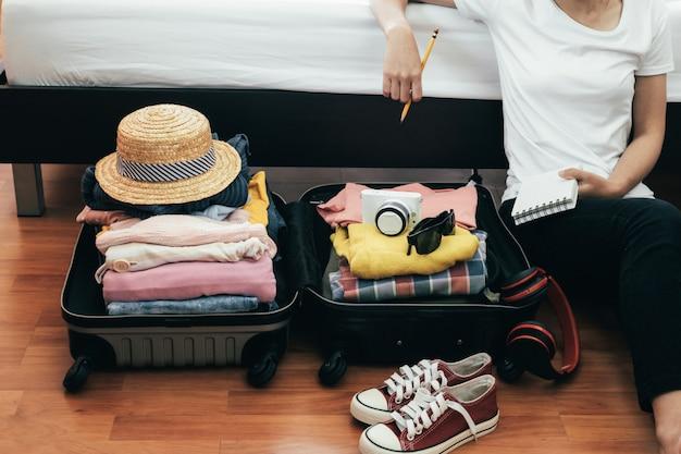 Vorbereitung für urlaub oder reise.