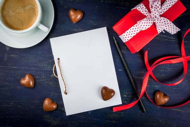 Vorbereitungen für den valentinstag