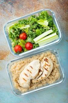 Vorbereitungsbehälter für gesunde mahlzeiten.