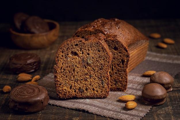 Vorderansicht der gebackenen scheiben kuchen