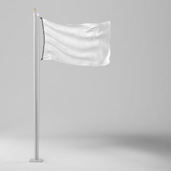 Vorderansicht der leeren flagge