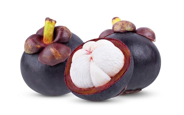 Vorderansicht der mangostanfrucht