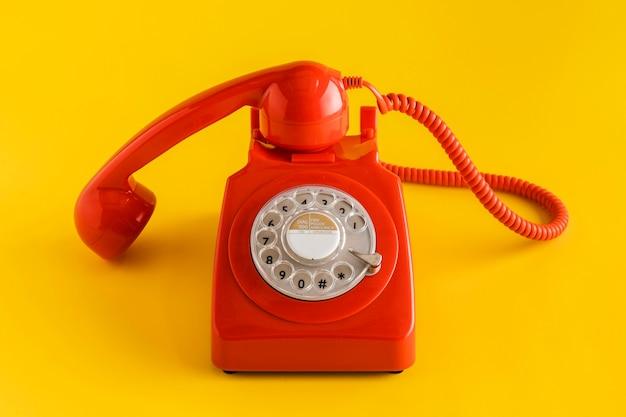 Vorderansicht des retro-telefons