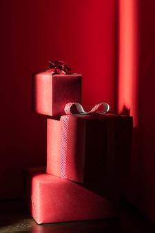 Vorderansicht des weihnachtsgeschenkkonzepts
