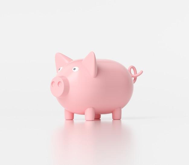 Vorderansicht eines sparschweins