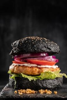 Vorderansicht köstliches burger-sortiment