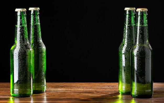 Vorderansicht leckeres amerikanisches bierarrangement